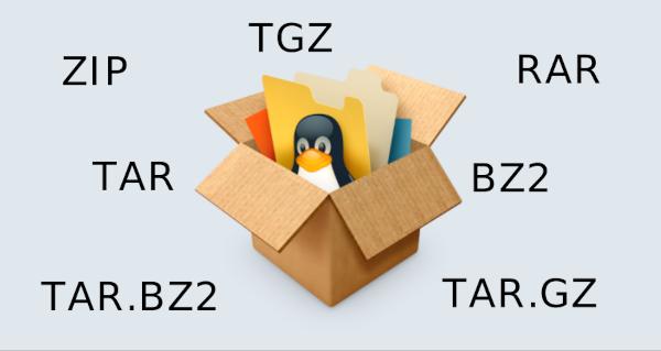 Comprimir e extrair arquivos no Linux